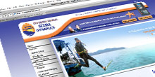 web design : scuba dynamics website